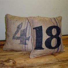 awesome burlap pillows