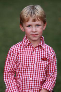 Checkered Razorback Shirt