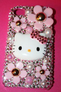 Swarovski Hello Kitty Daisy Bling Iphone 4/4s case by slave2beauty, $60.00