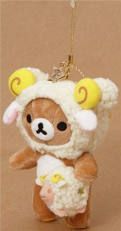zodiac sign Aries Rilakkuma bear plush charm