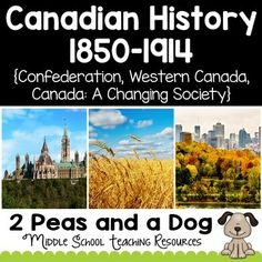 Grade 8 History Bundle Confederation, Western Settlement and Changing Society Ontario Curriculum, Social Studies Curriculum, History Lesson Plans, Study History, History Activities, Interactive Activities, Remembrance Day Activities, British North America, 8th Grade History
