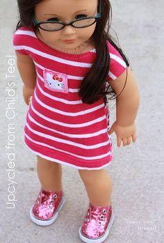 The Mod Shift Dress PDF Doll Clothes Pattern by ManySmallFriends