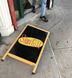 Sign fell.