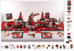 2. Mustertisch Klassik in Rot-Grün - Tischdeko Weihnachten - Tafeldeko.de