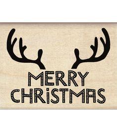 Inkadinkado® Mounted Rubber Stamp-Reindeer Antlers