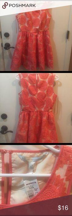Spring Coral Lace Dress Lauren Conrad Coral Lace Dress LC Lauren Conrad Dresses