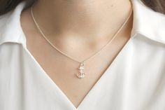 A b o u t - Silver anchor necklace that is great for daily wear or as a lovely gift!  *All are wrapped in gift boxes and is ready for