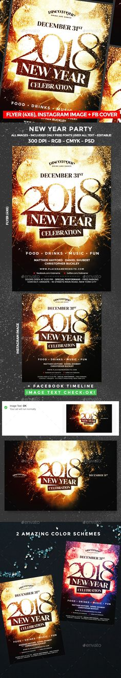 New Year #elegant #new year flyer  • Download here → https://graphicriver.net/item/new-year-flyer/20982009?ref=pxcr
