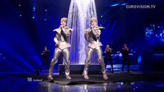 Jedward - Waterline (Ireland) Eurovision 2012 / Not as good as 'Lipstick', but it's still amusing to watch Jedward bouncing around stage in their costumes.