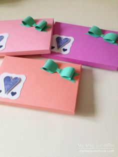 My May Sunshine: Card gift boxes using envelope punch board