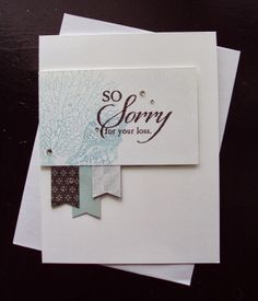 Stampin Up - So Sorry and By the Tide Card by Paperecstasy.blogspot.com: