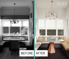 Dining Nook Remodel - Contemporary Comfort #Miami #Residential #DKORInteriors #Florida #BeforeAndAfter