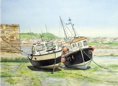 Learn to paint boats in watercolour with Tony Cowlishaw
