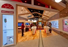 Virgin Media's is pushing the boundaries of technology by employing interactive touchscreen displays throughout their new retail store.