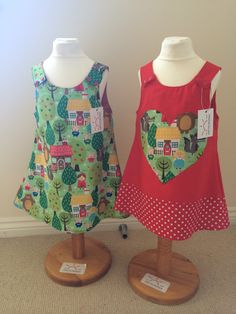 Little Fire Boutique. Pinafore dresses from August available from Mini Moos