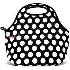 Gourmet Getaway Lunch Tote - Big Dot Black & White, The Gourmet Getaway is great for road trips, plane rides or any time you're on the run. It expands to fit a variety of containers and is machine washable so spills are a non issue.