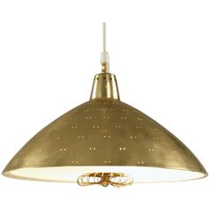 Paavo Tynell  Chandelier Branded Taito  In Brass With Silk Diffuser | From a unique collection of antique and modern chandeliers and pendants  at http://www.1stdibs.com/furniture/lighting/chandeliers-pendant-lights/