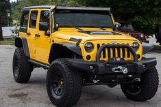 Custom 2015 Jeep Wrangler Unlimited Rubicon - Baja Yellow - AEV Premium Front Bumper-always have wanted one Jeep Jk, Jeep Truck, Gmc Trucks, Diesel Trucks, Lifted Trucks, Pickup Trucks, Tonka Trucks, Dodge Diesel, Jeep Wrangler Unlimited