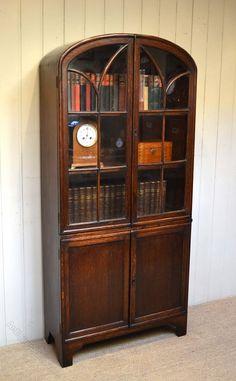 Art Deco Arch Top Cabinet Bookcase