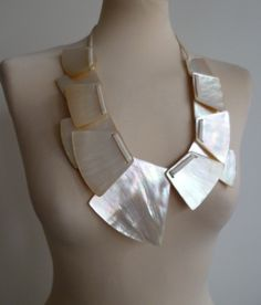 Gerda Lynggaard Monies Mother OF Pearl  Necklace