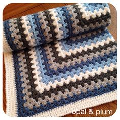 Pram & Buggy Blankets - opal & plum