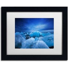 Trademark Fine Art 'Think Blue' Canvas Art by Philippe Sainte-Laudy, White Matte, Black Frame, Size: 16 x 20, Multicolor