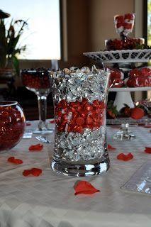 Deco saint valentin, black party, candy buffet tables, candy table, red can Candy Buffet Tables, Candy Table, Red Candy Buffet, Dessert Table, 40th Wedding Anniversary, Anniversary Parties, Casino Theme Parties, Casino Party, Casino Night