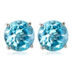 I bought these for my mother as a present. They match exactly a Swiss blue topaz pendant in white gold that she has. My mother loved the present.