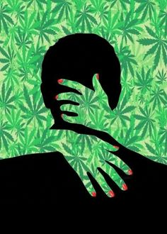 LOVE this picture. I think its super hott for some reason... Oh yeah, maybe cus its covered it bud leaves LOL