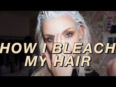 Our hair bleaching tips will help you to bleach your own hair at home without damaging it. Bleached hair can look so lifeless, but these steps will lead to gorgeous locks! Blonde Hair At Home, White Blonde Hair, Dyed Blonde Hair, Silver Grey Hair, Blonde Color, Bleach Blonde Hair, Blonde Brunette, Red Hair, Hair Color For Women