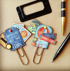 Planner Clips, Filofax, Journaling, Embellishments by Jackie Benedict