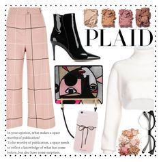 """""""Check It: Plaid✅"""" by ailaaaa07 ❤ liked on Polyvore featuring River Island, Illamasqua, Alexandre Vauthier, Sigma, Gianvito Rossi, Prada and plaid"""