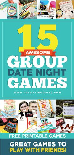 Fun Group Date Ideas - From The Dating Divas This needs to happen! These couples game ideas look so fun! Perfect for a group date night! This needs to happen! These couples game ideas look so fun! Perfect for a group date night! Date Night Games, Couples Game Night, Game Night Parties, Night Couple, Family Night, Geek House, Group Dates, Diy Spring, Fail