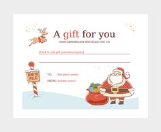 Free Printable Gift Certificates Templates Gift Certificate Template 06  Gift Certificate  Pinterest  Gift .