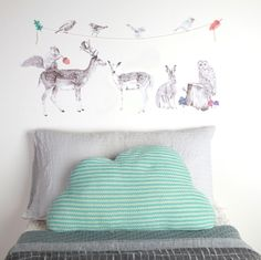 Lovely NEW fabric wallstickers from #Lovemae