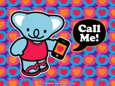 Call Me! | Smiling Bear®  free ecard cute kawaii