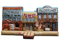 Rent the Old West Playland Combo for your next western themed party only from Magic Jump Rentals. Halloween Kids, Halloween Party, Wild West Crafts, Inflatable Rentals, Cowgirl Party, Western Theme, Old West, Climbers, More Fun