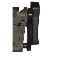 Three-way adjustable recoil pads for drop pitch and offset as well as length of pull, for the Remington 700. It further enhances the UBR® stock by adding the adjustability and the comfort of a soft rubber recoil pad. This is a complete module. It replaces the existing UBR® recoil pad.