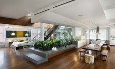 Modern Minimalist Open-Concept Living Area [1267 x 766] : RoomPorn