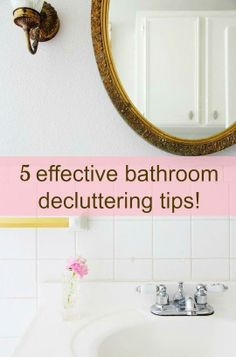 Small Bathroom Ideas: 5 Effective Decluttering Tips for a Tidier Space  /