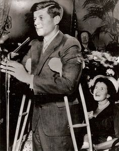 "Due to a back injury sustained in WWII JFK was in constant pain. (""After back surgery, Jack continued the Senate campaign in pain while on crutches."")"