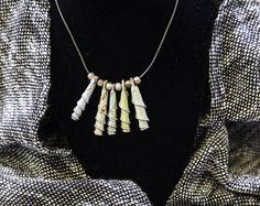 Recycled necklace, Nespresso jewelry, Eco friendly necklace, light aluminium, Nespresso capsules , Upcycled Jewelry, Nespresso necklace -    Edit Listing  - Etsy
