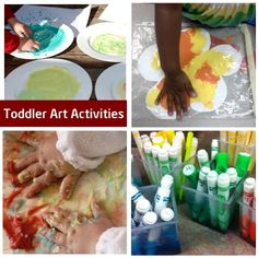 Art activities for babies toddlers