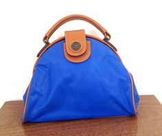 vintage 80s ROYAL blue capezio satchel HANDBAG by GEMandARROWvtg, $34.00