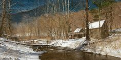 High Country Grist Mill by Phillip Philbeck Sky Painting, Seascape Paintings, Nature Paintings, Landscape Paintings, Landscapes, Paintings I Love, Original Paintings, Old Cabins, Contemporary Artists