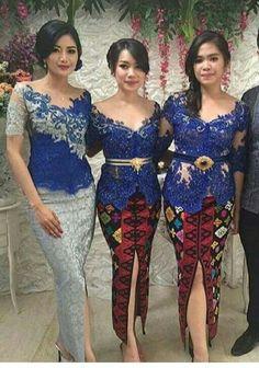Kebaya Lace, Kebaya Brokat, Dress Brokat, Batik Kebaya, Kebaya Dress, Batik Dress, Lace Dress, Model Rok Kebaya, Modern Kebaya