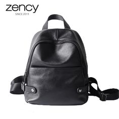 Top Quality 100% Cow Genuine Leather Backpacks Girl s Schoolbag High  Capacity Laptop Bags Women s Simple 382fa6edb4b34