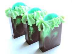 Image of FROSTED LIME CUPCAKE Handmade Soap