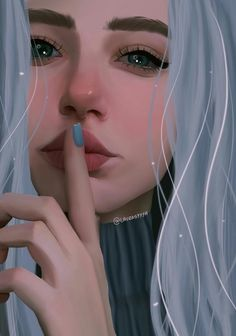 Always Be Honest ,If you're hurt share feelings with someone who is attached to you Girly Drawings, Cool Art Drawings, Art Drawings Sketches, Digital Art Girl, Digital Portrait, Portrait Art, Cool Anime Girl, Anime Art Girl, Girl Cartoon