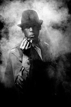 Our smoking hot Film Noir model